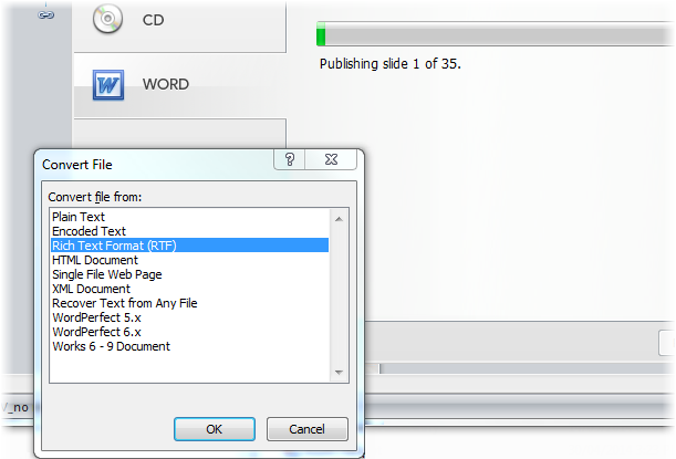 convert pdf to microsoft publisher format