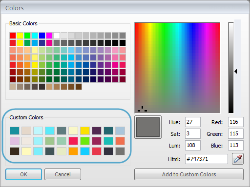 overwriting your custom color swatches
